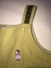 Jacadi Of Paris Girls Sz. 6 Month Brushed Cotton Overalls. Cute Details. Fun