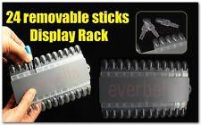 24 PCS removable Nail Art Tips Practice Display rack 54149-24