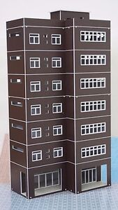 Outland-Models-Train-Railway-Modern-Tall-Business-Building-Office-HO-OO-Scale