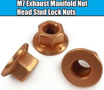 BMW E81 E87 E88 1 SERIES Z3 Z4 EXHAUST MANIFOLD NUTS HEAD STUD LOCK NUT M7 HEX
