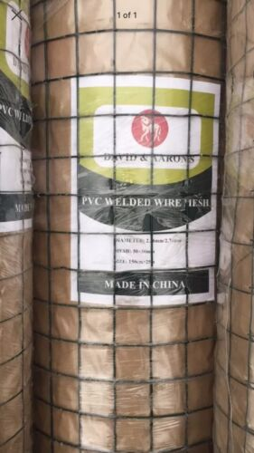 PVC COVERED HEAVY 12 GAUGE GALVANISED WELDED MESH FENCING 5ft TALL 25m ROLL