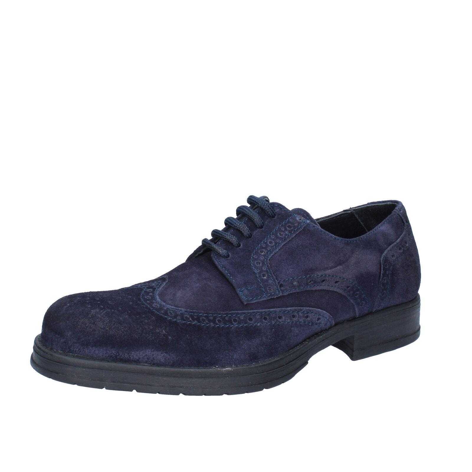 Mens shoes SALVO BARONE 6 (EU 40) elegant bluee suede BZ162-B