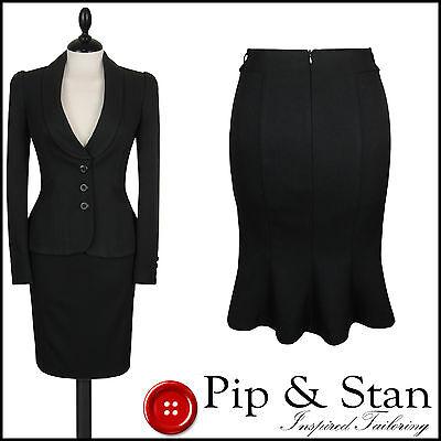 NEXT UK12/14 US8/10 BLACK PENCIL SKIRT SUIT BUSINESS WOMENS LADIES SIZE