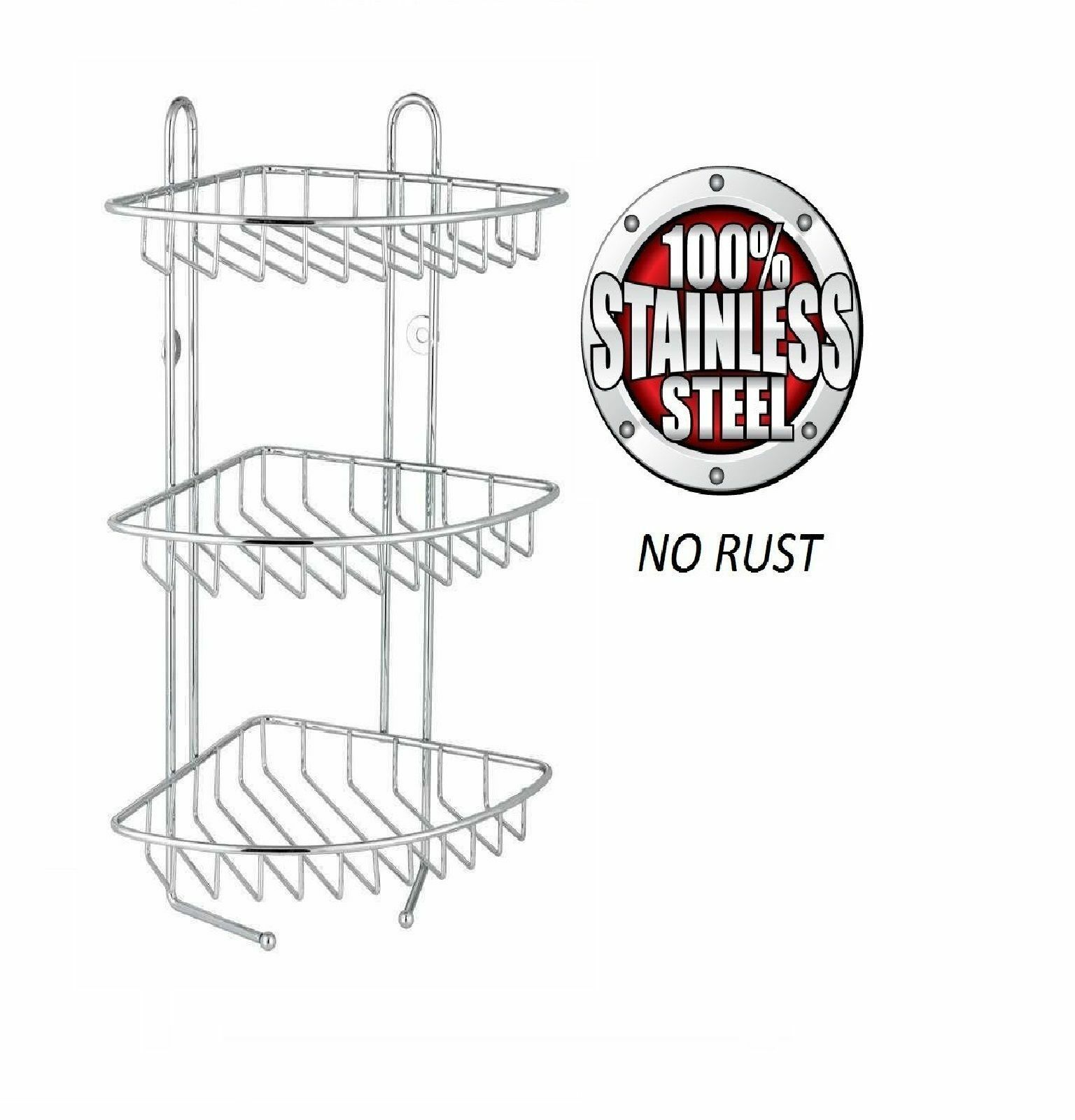 3 Tier Oval Stainless Steel Caddy