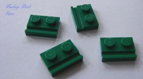 NEW Lego Lot//4 GREEN DOOR RAILS 1x2 Plates Parts