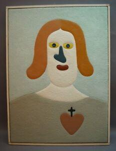 Peter M. Bauer (1946-2020) - Art Brut - Naive Kunst - Heiligste Herz Jesu PB114