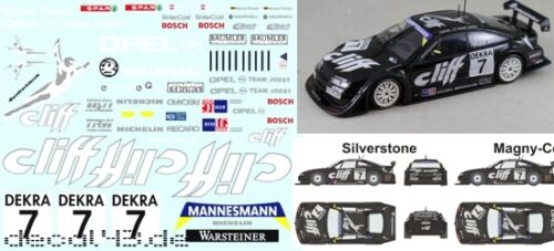 1//43 Decal Opel Magny Vauxhall Calibra /'Cliff/' ITC 1996 Silverstone N/'ring