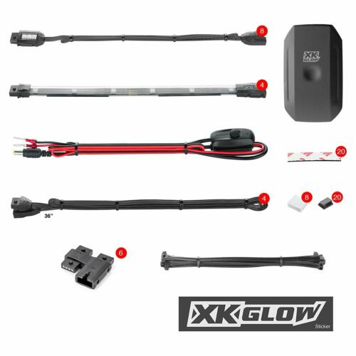 XKGLOW KSMOTOSTANDARD 2 Gen 8 Pod 4 Strip App Control Motorcycle Professional