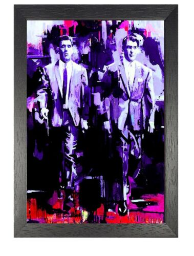 The Krays Fresco Strong Identical Twin Brothers English Criminals Film Poster