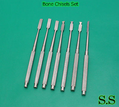 Set of 8 Dental Bone Chisel Surgical Medical Instruments