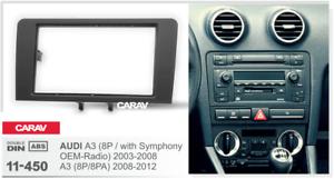 Carav 11 450 Car Cd Radio Fascia Surround Panel For Audi A3 8p8pa