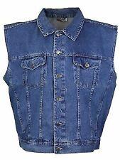 HALEMAN Jeans Wear 13 1//2 OZ 100/% Cotton Denim Vest HipHop Cameraman Fisherman
