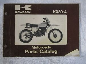 Original 1979 Kawasaki Kx80 A Motorcycle Parts Catalog 99910 1035 01 Ebay