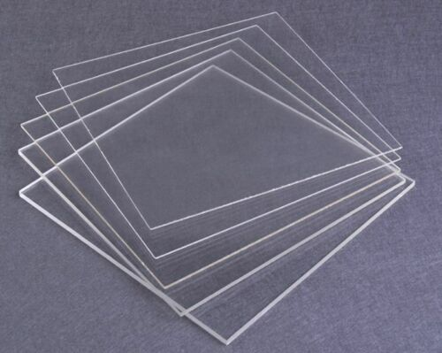 2mm to 5mm Thick 210 x 148mm Size A5 Acrylic Sheet PMMA Panel Plate Select