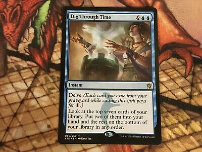 MTG Khans//Masters Delve NM Magic the Gathering 1x DIG THROUGH TIME