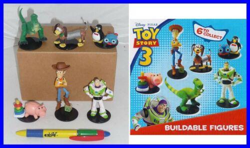 Disney Toy Story Set 6 Figurine Cosmetiques Buzz Woody Rex Gashapon TOMY Trading