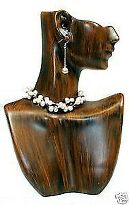 Figurine Vintage Finish Mannequin Solid Resin Pendant Necklace Jewelry Display
