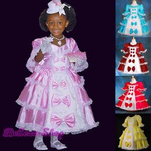 Beads-Lace-Vintage-Victorian-Princess-Dress-Fancy-Costume-Kid-Size-2T-10-VD001