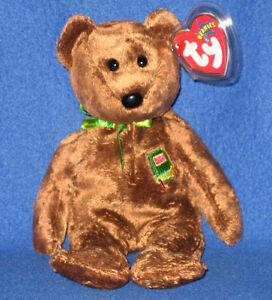 2650a7d2c43 TY WILLIAM  CLOSED BOOK  BEAR BEANIE BABY - UK EXCLUSIVE 8421046324 ...
