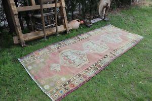 Vintage-Turkish-Handmade-Oushak-Runner-Rug-8-039-x3-039-4-034