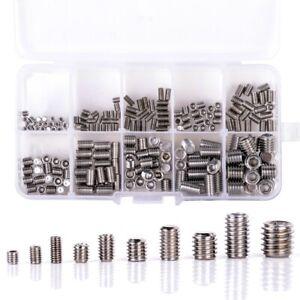 200Pcs-304-Stainless-Steel-Grub-Screws-Hex-Socket-Screw-Assortment-Kit-Set-M5U3