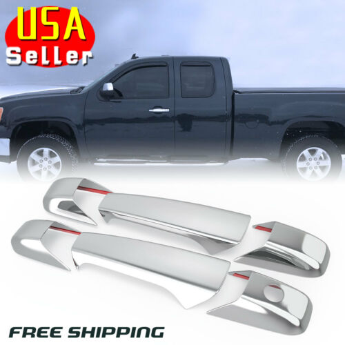 Chrome Door Handle Trim Cover Fit for 2007-2013 Chevy Silverado Tahoe GMC Sierra