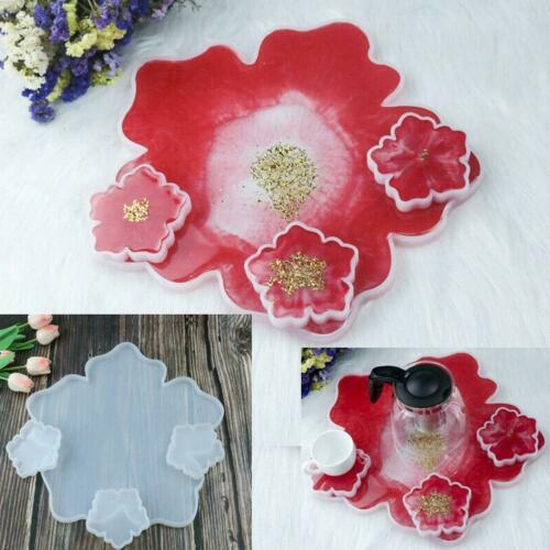 Silicone Agate Coaster Pad Casting Mold Resin Making Epoxy Mould Craft Tools DIY