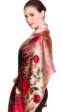 hochwertiger Damenschal aus schweren Seiden-Satin, Kunstdruck