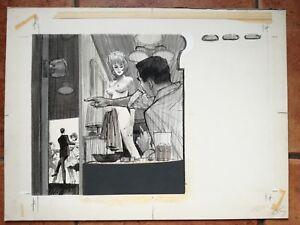 Faithful Original Art Mens Adam Magazine Pulp 50's On Board Fast Color Original Comic Art