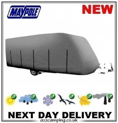 NEW 2019 GREY DELUXE 4 PLY CARAVAN WINTER SUMMER COVER BREATHABLE 12 13 14 FT