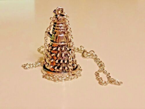 Dr Who DALEK 3d Figurine collectible Pendant Necklace with Chain cosplay NEW