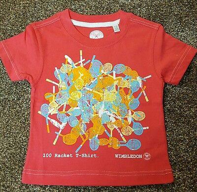 Gentile Di Wimbledon Per Neonate T Shirt Girocollo. Taglia 12-18 Mesi. Nuovo Di Zecca-