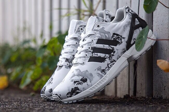 Adidas floralwomens zx flux b34011white black floralwomens Adidas shoes 100% authentic 056e2b
