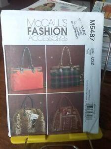 Oop-Mccalls-Fashion-5487-satchel-handbags-3-styles-lined-NEW