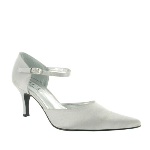 Ladies Lexus Elegant Satin Pointed Toe Sandal