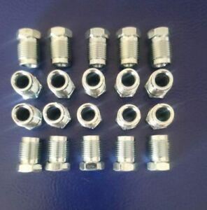 5x Überwurfschraube Bördel E 6 mm Bremsleitungsverbinder M12x1