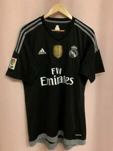 REAL MADRID SPAIN 2015/2016 GK FOOTBALL SHIRT JERSEY CAMISETA SIZE L ADIDAS