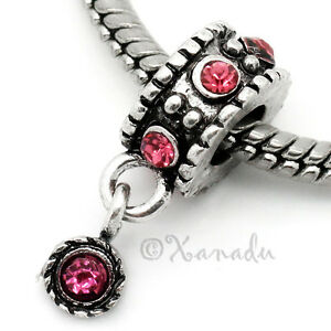 Hot-Pink-European-Charm-Bead-For-Charm-Bracelets-October-Birthday-Birthstone