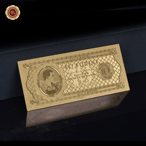 Period Mens Gifts WR Hungary Banknote Set 8pcs Gold Hungarian Old Money Of Diff