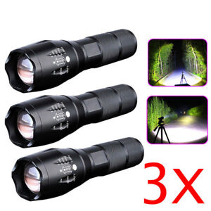 3-x-Ultrafire-Tactical-18650-Flashlight-T6-High-Powered-5Modes-Zoomable-Aluminum