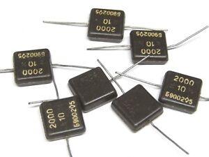 Lot of 10 pcs NOS! NEW KSO KCO 500V 2700pF silver mica capacitors