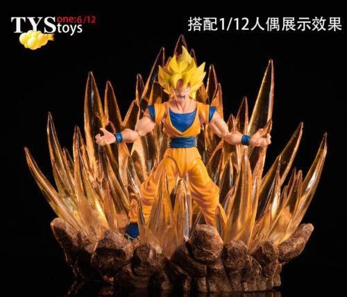 Tystoys Dragon Ball Super Saiyan GOKU VEGETA Stand LED BASE for 1//6-1//12 Figure
