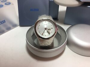 100% authentic detailed look release info on Details about Alessi AL11000 Guido Venturini Stainless Steel Silver Dial  Automatic Watch
