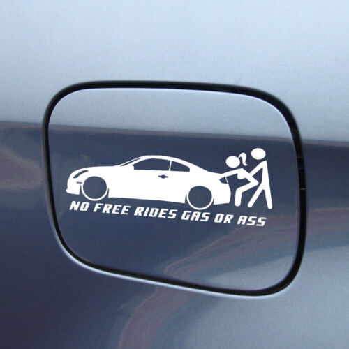 1x Funny No Free Rides Gas Or Ass Hot Car Window Sticker Waterproof Truck Decal