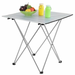Image Is Loading Folding Aluminum Roll Up Table Camping Outdoor Indoor