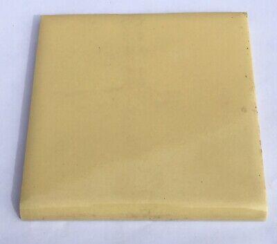 /'Wenczel/' Surplus 4x4 Vintage Bullnose Tile in Harvest Gold-1 Piece