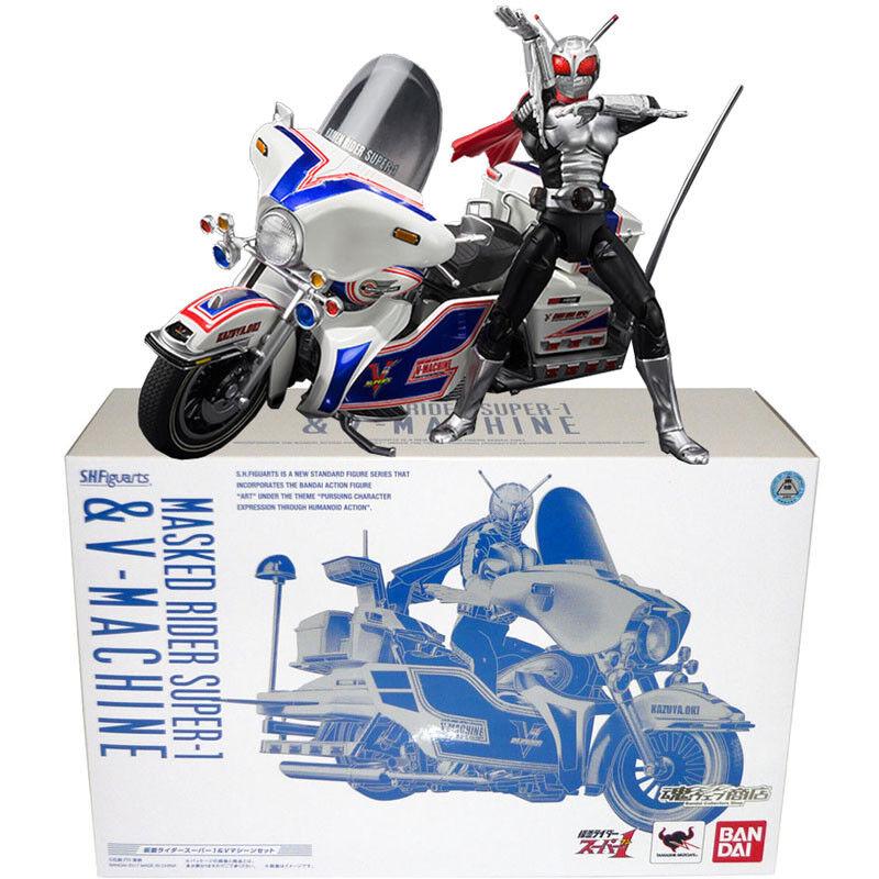 a precios asequibles Tamashii Limitada S.H. Figuarts Kamen Rider Rider Rider súper - 1 & V-conjunto de máquina Figura De Acción  la calidad primero los consumidores primero