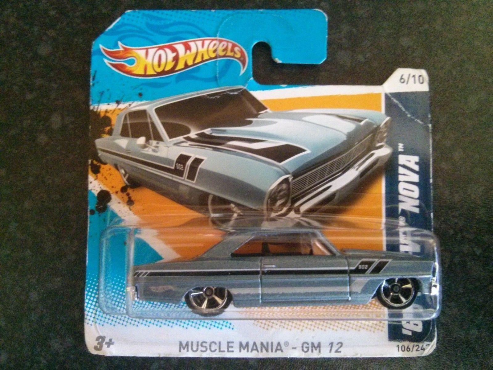 HOT WHEELS V5409 2012 Muscle Mania 6/10 NOVA CHEVROLET 1966 NOVA 6/10  106 4346b9