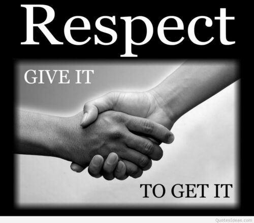 Respect Quotes Photo print canvas choose your size!