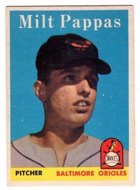 1958 Topps #457 Milt Pappas Rookie - Baltimore Orioles, Near Mint Condition'